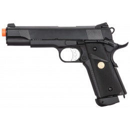 Double Bell M1911 CO2 Blowback MEU Airsoft Pistol [Polymer] - BLACK