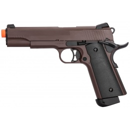 Double Bell M1911 CO2 Blowback Airsoft Pistol - CRIMSON BROWN