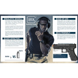 Spartan Licensed Glock 17 Gen 3 CO2 / Gas Blowback Training Pistol [Law Enforcement Only]
