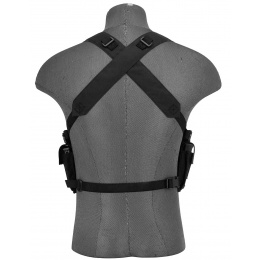 AMA Rugged Tactical Chest Rig w/ 6X Magazine Pouches [1000D] - BLACK