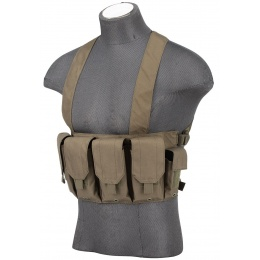 AMA Rugged Tactical Chest Rig w/ 6X Magazine Pouches [1000D] - FOLIAGE