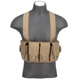 AMA Rugged Tactical Chest Rig w/ 6X Magazine Pouches [1000D] - TAN