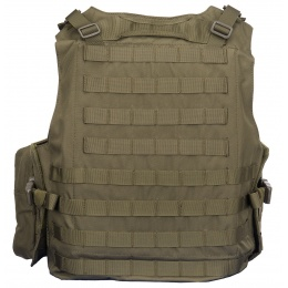AMA Airsoft MOLLE Plate Carrier w/ 6 Pouches - OD GREEN