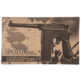 Well G196 Mauser CO2 Pistol (Black)