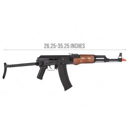 Well G74CC-W AK74 CO2 GBB Rifle w/ Folding Stock (Faux Wood)