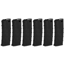 Lonex 200rd Mid Capacity M4/M16 Polymer Airsoft Magazine [6 Pack] - BLACK