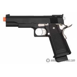 Golden Eagle 3302 OPS-MRP Hi-Capa 5.1 Gas Blowback Airsoft Pistol - BLACK