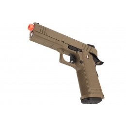 Golden Eagle IMF 3303 OPS-M.RP Hi-Capa 1911 Gas Blowback Airsoft Pistol - DARK EARTH