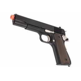 Golden Eagle IMF 3306 1911A1 Gas Blowback Airsoft Pistol - BLACK / SILVER