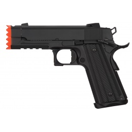 Golden Eagle IMF 3317 Hi-Capa 1911 Gas Blowback Airsoft Pistol w/ Muzzle Brake - BLACK
