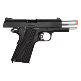 Golden Eagle MF 3330 OTS Tactical .45 Hi-Capa 1911 Gas Blowback Airsoft Pistol - BLACK