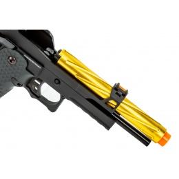 Golden Eagle 3337 OTS .45 Hi-Capa Gas Blowback Pistol w/ Open Slide (Color: Black / Gold Barrel)