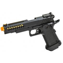 Golden Eagle 3338 OTS .45 Hi-Capa Gas Blowback Pistol w/ Vented Slide (Color: Black / Gold Barrel)