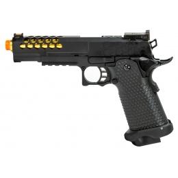 Golden Eagle 3339 OTS .45 Hi-Capa Gas Blowback Pistol w/ Hive Vented Slide (Color: Black / Gold Barrel)