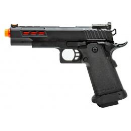 Golden Eagle 3342 OTS .45 Hi-Capa Gas Blowback Pistol w/ Ported Slide (Color: Black / Red Barrel)
