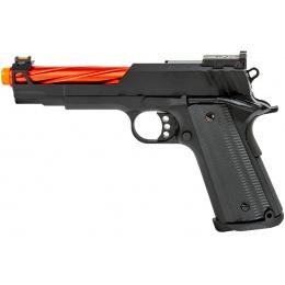 Golden Eagle 3363 1911 Gas Blowback Pistol w/ Open Slide (Color: Black / Red Barrel)