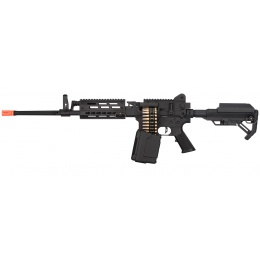 Golden Eagle MCR Light Machine Gun LMG Airsoft AEG Rifle [Long Barrel] - BLACK