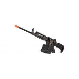 Golden Eagle MCR Light Machine Gun LMG Airsoft AEG Rifle [Long Barrel] - BLACK