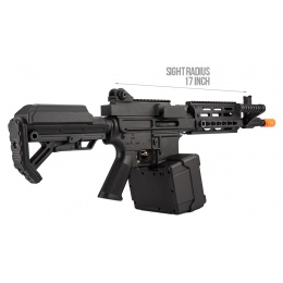 Golden Eagle MCR Light Machine Gun LMG Airsoft AEG Rifle [Short Barrel] - BLACK