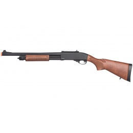 Golden Eagle M870 3/6-Shot Pump Action Gas Airsoft Shotgun - WOOD
