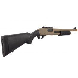 Golden Eagle M870 3/6-Shot Pump Action Gas Airsoft Shotgun - TAN