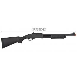 Golden Eagle M870 3/6-Shot Pump Action Gas Airsoft Shotgun - BLACK