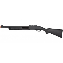 Golden Eagle M870 3/6-Shot Pump Action Gas Airsoft Shotgun - BLACK