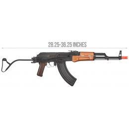 GHK AK GIMS Gas Blowback AKMS Airsoft AEG Rifle - WOOD