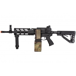 G&G CM16 LMG Airsoft Light Machine Gun AEG - BLACK