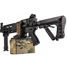 G&G CM16 LMG Airsoft Light Machine Gun AEG - BLACK