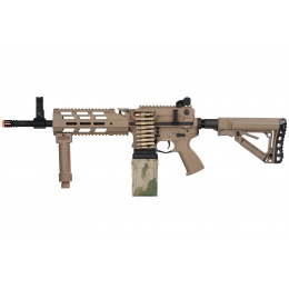 G&G CM16 LMG Airsoft Light Machine Gun AEG - TAN