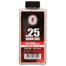 G&G 0.25g Airsoft 6mm Tracer BBs [2700rd Bottle] - RED