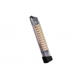 G&G Piranha 20 Round Transparent Long Magazine w/ Decorative Rounds