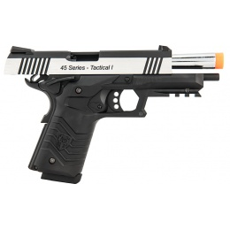 HFC HG-171 Tactical 1911 Gas Blowback Pistol  - SILVER / BLACK
