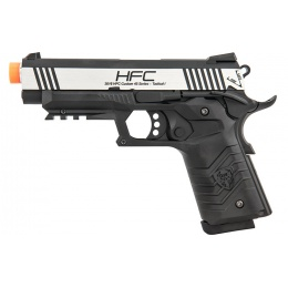 HFC HG-171 Tactical 1911 Gas Blowback Pistol  - SILVER / BLACK