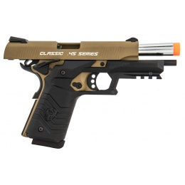 HFC Honor Fantastic 1911 Gas Blowback Pistol - TAN / BLACK