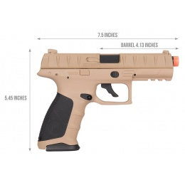 Elite Force Umarex Berretta APX Airsoft CO2 Pistol - FDE/BLACK