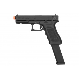 Elite Force Licensed GLOCK 18C GEN3 - Gas Blowback [Semi/Full-Auto] - Black (w/Extended Mag)