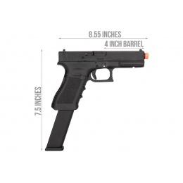 Elite Force Licensed GLOCK 18C GEN3 - Gas Blowback [Semi/Full-Auto] - Black (w/Extended Mag)