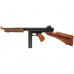 A&K M181 Spring Powered Thompson SMG w/ Full Metal (Color: Black / Faux Wood)