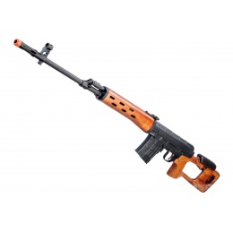A&K SVD Dragunov Spring Powered Airsoft Sniper Rifle w/ Fixed Sportsman Stock (Color: Wood)