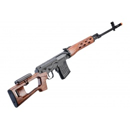 A&K SVD Dragunov Electric Airsoft Sniper Rifle w/ Faux Wood Furniture & Fixed Sportsman Stock (Color: Faux Wood)