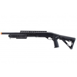 UK Arms IU-SXR2 Tactical Pump Shotgun w/ Adjustable Stock (Black)