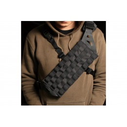 Laylax Cross Chest Lightweight Molle Bandolier Sling Rig (Color: Black)