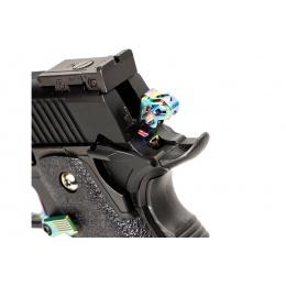 Laylax Nine Ball Custom Hexa Hammer for Hi-Capa Series Gas Blowback Airsoft Pistol (Color: Heat Gradation)