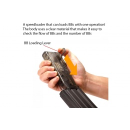 Laylax Satellite Ambidextrous Swiveling Arm High Capacity Speedloader (Color: Smoked)