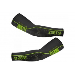 Laylax Zombie Special Response Team (ZSRT) Cool Arm Cover (Color: Black / Zombie Green)