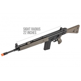 LCT LC-3A3 Full Size AEG Airsoft Rifle w/ Wide Handguard - BLACK / GREEN