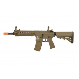 Lancer Tactical LT-24TA8-G2-E Hybrid M4 Carbine AEG w/ Free Float Rail (Tan)