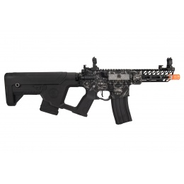 Lancer Tactical Enforcer Hybrid Needle Tail AEG w/ Alpha Stock [Low FPS] (Black w/ Wolfpack Laser Engraving)